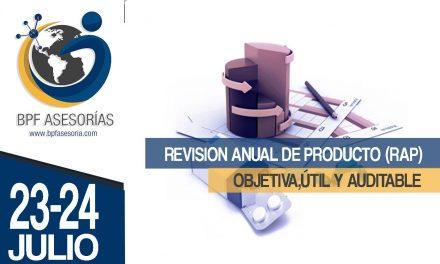 REVISION ANUAL DE PRODUCTO (RAP)   OBJETIVA,ÚTIL Y AUDITABLE