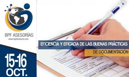 EFICIENCIA Y EFICACIA DE LAS BUENAS PRÁCTICAS DE DOCUMENTACIÓN.
