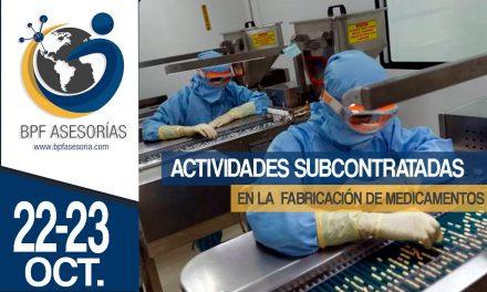 ACTIVIDADES SUBCONTRATADAS EN LA  FABRICACIÓN DE MEDICAMENTOS